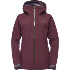 Black Diamond Recon Stretch Shell Regenjas Dames, bordeaux
